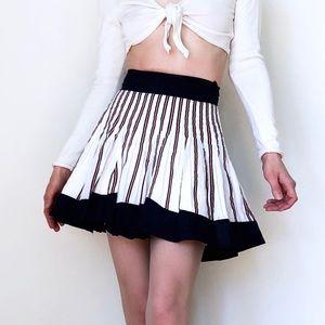 MNG Striped Cotton MINISKIRT